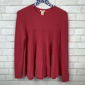 Sundance Pleated Flared Swing Sweater F2887